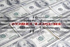 Dinero ane de la ejecución de una hipoteca Imágenes de archivo libres de regalías