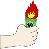 Dinero ardiente ilustración del vector