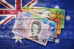 Dinero australiano de la bandera Imágenes de archivo libres de regalías