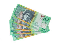Dinero australiano - moneda australiana Imagenes de archivo