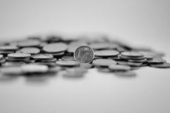 Dinero blanco y negro Fotografía de archivo libre de regalías