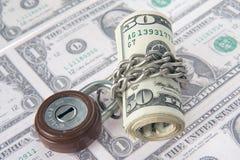 Dinero bloqueado Imagen de archivo
