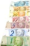 Dinero brasileño Fotos de archivo libres de regalías