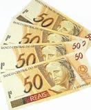 Dinero brasileño Imágenes de archivo libres de regalías