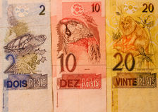 Dinero brasileño Foto de archivo