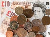 Dinero británico Foto de archivo libre de regalías