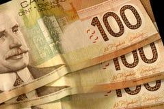 Dinero canadiense Fotos de archivo libres de regalías