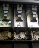 Dinero canadiense en cajón Fotografía de archivo
