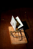 Dinero cargado de la ratonera imagen de archivo libre de regalías