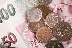 Dinero checo Imagen de archivo libre de regalías