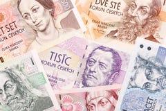 Dinero checo, un fondo Fotografía de archivo libre de regalías