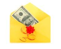 Dinero como regalo Fotografía de archivo