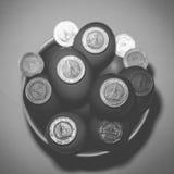 Dinero con los huevos Imagen de archivo libre de regalías