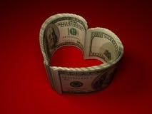 Dinero. Corazón ilustración del vector
