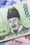 Dinero coreano Foto de archivo