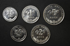 dinero croata de la moneda del kuna Imagen de archivo libre de regalías