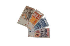 Dinero croata del billete de banco de la moneda de Kuna Fotos de archivo