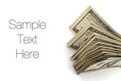 Dinero, cuentas de dólar Imágenes de archivo libres de regalías