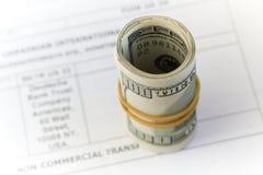 Dinero, dólares Foto de archivo libre de regalías