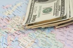 Dinero, dólares Fotos de archivo