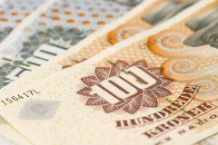 Dinero danés imagen de archivo libre de regalías