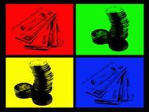 Dinero de 4 colores stock de ilustración