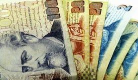 Dinero de Argentina Foto de archivo libre de regalías