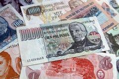 Dinero de Argentina Fotos de archivo libres de regalías