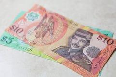 Dinero de Brunei Fotos de archivo libres de regalías
