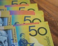Dinero de cincuenta notas del dólar Imagenes de archivo