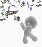 Dinero de cogida Fotos de archivo libres de regalías