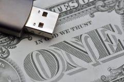 Dinero de Digitaces foto de archivo libre de regalías