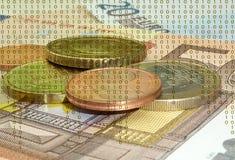 Dinero de Digitaces Imagen de archivo libre de regalías