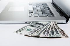 Dinero de Digitaces Imagenes de archivo