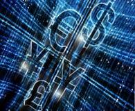 Dinero de Digitaces Imagen de archivo