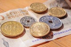 Dinero de Dinamarca imagenes de archivo