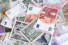 Dinero de diversos países Fotografía de archivo libre de regalías