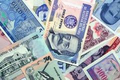 Dinero de diversos países Imagen de archivo
