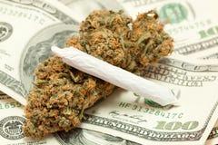 Dinero de droga Imagen de archivo libre de regalías