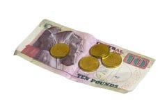 Dinero de Egipto en el fondo blanco Foto de archivo