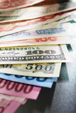 Dinero de Globay Foto de archivo libre de regalías