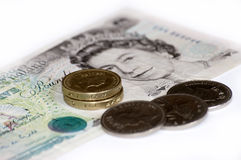 Dinero de Inglaterra Fotos de archivo libres de regalías