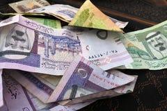 Dinero de la Arabia Saudita Imágenes de archivo libres de regalías