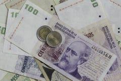 Dinero de la Argentina Foto de archivo libre de regalías