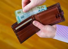 Dinero de la cartera Fotografía de archivo libre de regalías