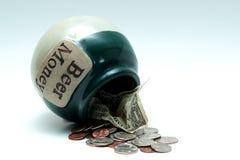 Dinero de la cerveza Imagen de archivo libre de regalías