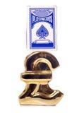 Dinero de la ganancia de naipes Imagen de archivo