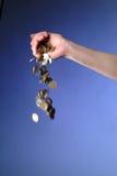 Dinero de la gota Imagen de archivo libre de regalías