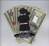 Dinero de la graduación Imagen de archivo