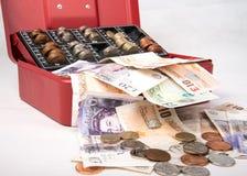 Dinero de la libra esterlina en caja fuerte Imagen de archivo